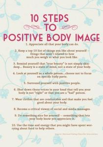 10 steps to body image