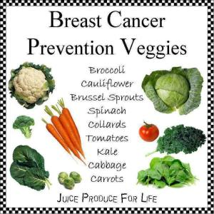 breast cancer veggies