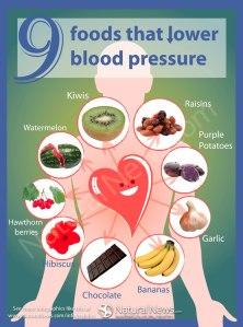 9 foods that lower BP